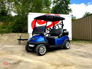 Scuba Blue Custom Club Car Precedent Electric Golf Cart