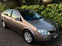 2005 Nissan Primera 1.8 with long MOT and Full History, HPI clear