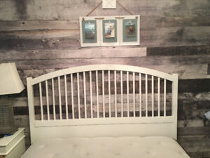 Tyssedal ikea queen bed frame with mattress