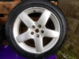 Alloy wheels and tyres peugeot/ ford