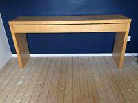 Large oak veneer dressing table