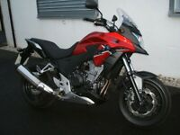 Honda CB500 CB500X-AD, Red in colour, and only done 985 Miles! Immaculate condition.