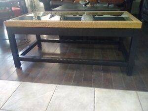 Coffee Table Glass and Wood