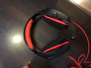 Red & Black Gaming Headset with Mic - Open Box NEVER USED
