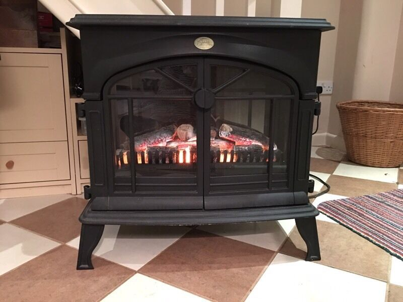 Berry Chambery 3330 3kw Wood Burner Effect Freestanding Electric Fire In Full Working Order