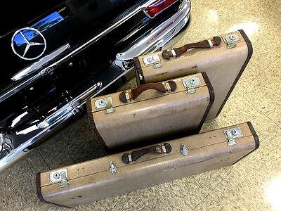 Mercedes Benz Karl Baisch 170 And 220 Vintage Luggage Set 3 Pieces