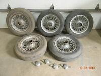 5 roues de broche pour une Jaguar XK120