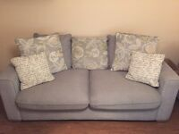 Grey 3+2 seater sofas