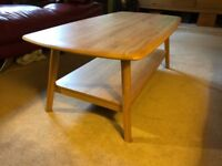 A Hutch (Online) Stockholm Retro Coffee Table In Light Oak Solid Wood Excellent Condition