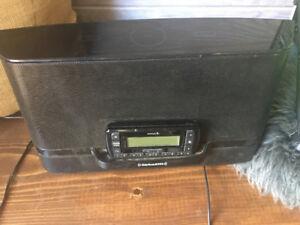 Sirius XM radio with dock