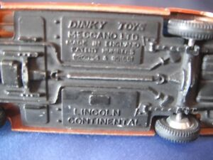 Dinky #170 Lincoln Continental made by Meccano '64-'66 Kingston Kingston Area image 3