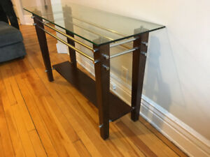 Modern Glass Table Set- Coffee Table, Side Tables, Console Table
