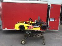 Go kart and enclosed trailer