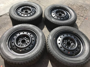 205/65/R16,Dunlop Graspic Winter tires With Rims For Sale