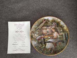 """Shirley  Deaville - The Love Letter Ltd. Ed. Plate 8 1/4"""""""