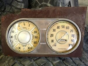 1938 Dodge Gauges and Glove Box Door