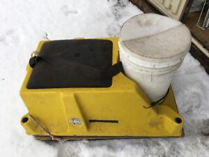 Traîneau de pêche sur glace