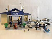 Playmobil police station and police sea plane.