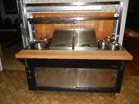 table chaude MKE,bain-marie,salamandre et chauffe-assiette