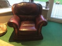Leather Gents armchair