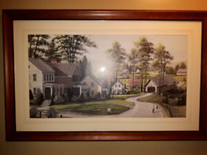 Country Scene Hanging Framed Picture