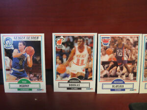 lLot of 1990 Fleer Basketball cards with rookies and Bird