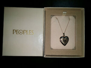 10K Gold Heart Locket with Diamond Accent St. John's Newfoundland image 1