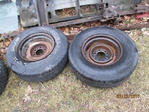 Pair of 15x9 6 bolt steel wheels for 1947- 1987 Chevrolet / Gmc