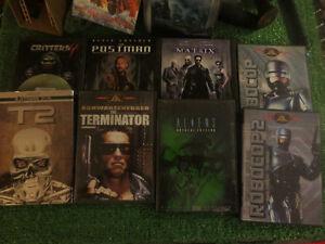 10 DVD lot. sci-fi. Terminator 1/2 Robocop 1/2 ...