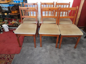 Vintage Pine Chairs