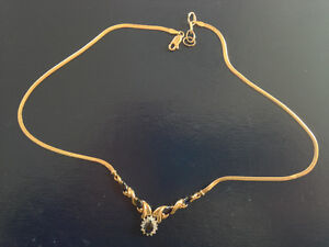 Diamond and Sapphire necklace with gold enhancement Gatineau Ottawa / Gatineau Area image 2