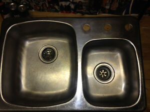Kitchen sink -Stainless steel- used-$125 obo