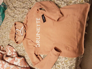 S/m new with tags Brunette The Label long tan hoodie