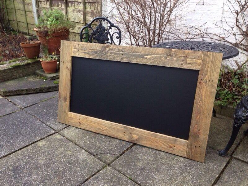 Large Menu Chalkboard Wooden Vintage Rustic
