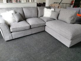 SALE!! NEW Rio Grey Left Right Hand Corner Sofa RRP £2299 DELIVERY AVA