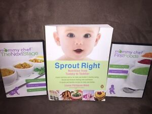 Sprout Right - baby cook book and instructional dvd's
