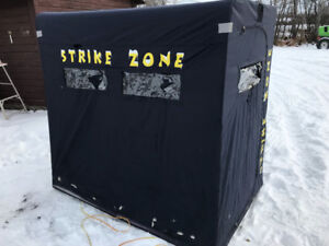 Two person collapsible ice fishing shelter