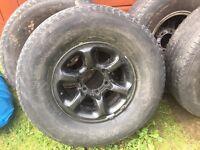 Pajero/Shogun/Delica alloy wheels x4