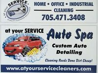 AT YOUR SERVICE AUTO SPA .AREA RUGS AND UPHOLSTERY CLEANERS