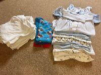 Boys 12-18 months babygrows, vests, pjs
