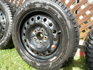 205-55R 16 Winter Tires, mounted on steel rims Cambridge Kitchener Area image 2