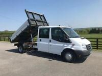 2011 61 FORD TRANSIT 2.4 350 115 BHP DOUBLE CAB TIPPER 64TH MILES