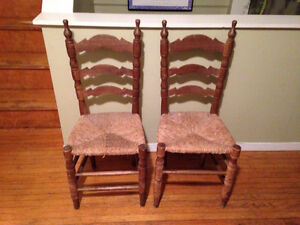 Old French wooden kitchen chairs for sale