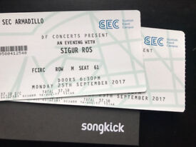 2 x Sigur Rós tickets for Monday 25th Sept