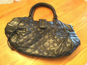 Black Leather MEXX Purse