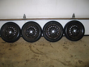 Four Tires on steel rims 195/60R14