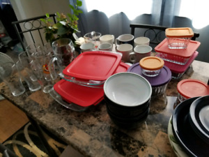 Plates, glasses and containers