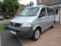 VW T5 Camper T30 Elevating roof 4 berth Silver Quality Finish Superb Condition