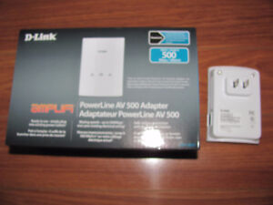 D-link PowerLine AV500 Adapter.