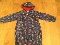 Kid's all in one rain suit age 5-6 - Bluezoo